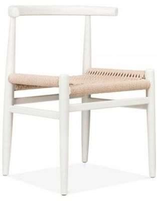 Svenda Dining Chair With A White Frame Front Angle