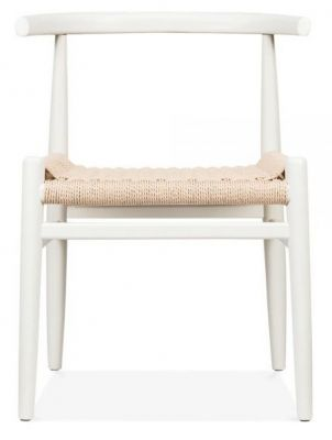 Svenda Designer Dining Chair With A White Frame Front View
