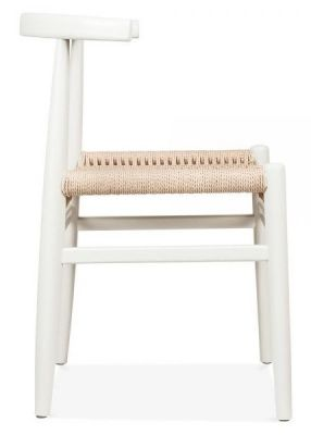 Svenda Designer Dining Chair With A White Frame Hside View