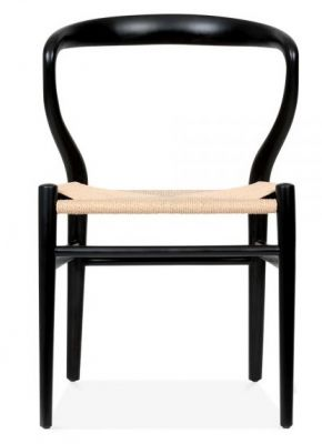 Katcut Designer Chair Black Frame Front Shot