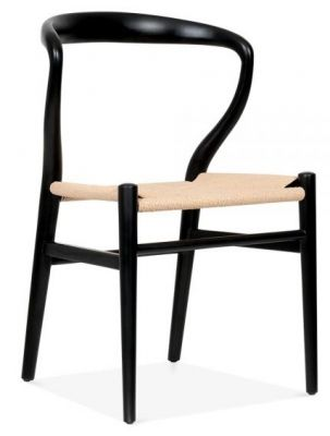 Katcut Designer Dining Chair With A Black Frame Front Angle
