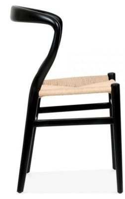 Katcut Designer Dining Chair In Black Side View