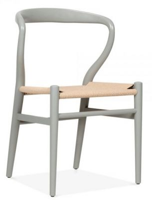 Katcut Designer Dining Chairs Grey Frame Front Angle