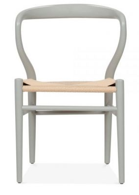 Katcut Designer Dining Chair Grey Frame Front View