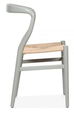 Katcut Designer Dining Chairs With A Grey Frame Side View