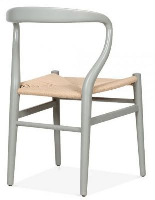 Katcut Dining Chairs With A Grey Frame Rear Angle