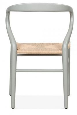 Katcut Dining Chairs With A Grey Frame Rear View