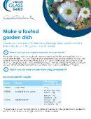 Footed garden dish tutorial