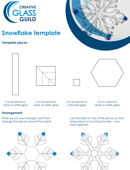 Make your own fused glass snowflakes