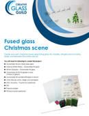 Fused Glass Christmas Scene