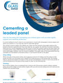 Cementing a leaded panel