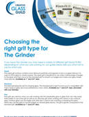 Choosing the right grit type for The Grinder
