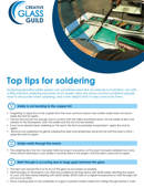 Top tips for soldering