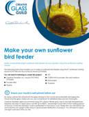 Make your own fused glass sunflower bird feeder