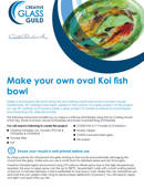 Make your own oval Koi fish bowl