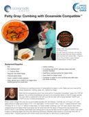 Hot glass combing