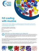 Frit casting with murrine