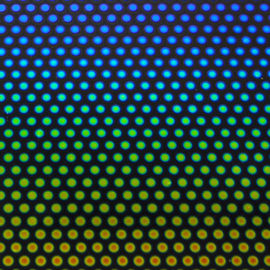 Rainbow Dots 2 on Thin Black