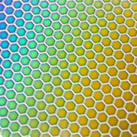 Crinklized Honeycomb 1 on Thin Clear