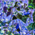 BlueGold on ClearGreenBluePurple Fracture & Streamers