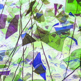 BlueGold on ClearGreenBluePurple Fracture & Streamers 3