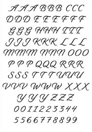 Letters and numbers  scripty
