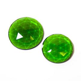 Flatback Faceted Jewels   Emerald Green