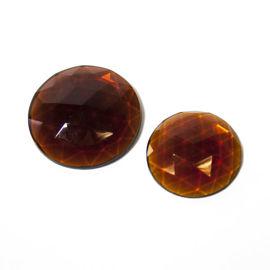Flatback Faceted Jewels   Dark Amber 2