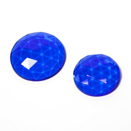 Flatback Faceted Jewels   Cobalt