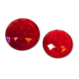 Flatback Faceted Jewels   Dark Red
