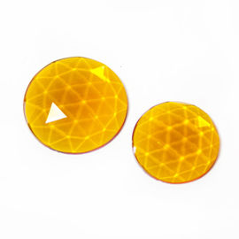 Flatback Faceted Jewels   Mid Amber