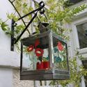 PGPSFCP440 5C Summer Floral Craft Pack stencils on hanging lantern
