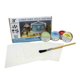 Summer Floral stencil kit