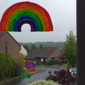PGPRB6150SO 5D Rainbow with rainbow rose