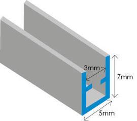 Zinc U 7MM Section