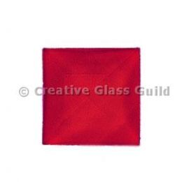 Glass Jewels: Square Red