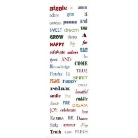 Fusing Decals - Coloured Words
