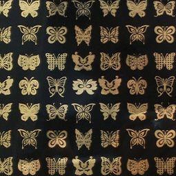 Fusing Decals - Glass Accents Butterflies - Gold
