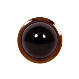 Glass Jewels: 33mm Fish Eye Lens - Dark Amber