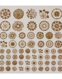 Decals---Gold-Flowers