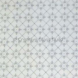 Etched Glass - Double Fleur