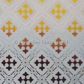 Etched Glass - Gothic Amber