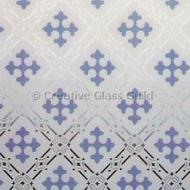 Etched Glass - Gothic Blue