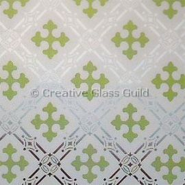 Etched Glass - Gothic Green