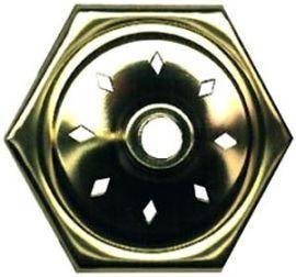 Hexagon Vase Cap 3 Inch Vented