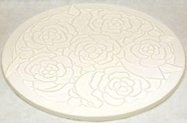 """Peony Circular Texture Mould - 11"""" diameter"""