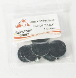"System 96 Black Mini Circles (pre cut 1"" diameter 6 pack)"