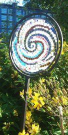 Garden Frame - Wrought Iron - circular panel holder