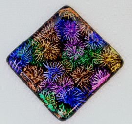 Dichroic Extract - Cyan / Copper (1/8 Sheet equivalent)