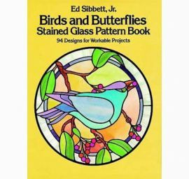 Birds and Butterflies: Stained Glass Pattern Book